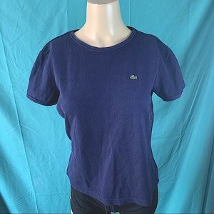 NWOT LACOSTE NAVY BLUE TEE with LOGO